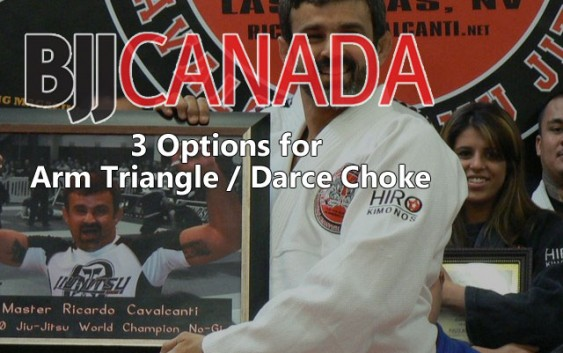 3 Options for Arm Triangle / Darce Choke